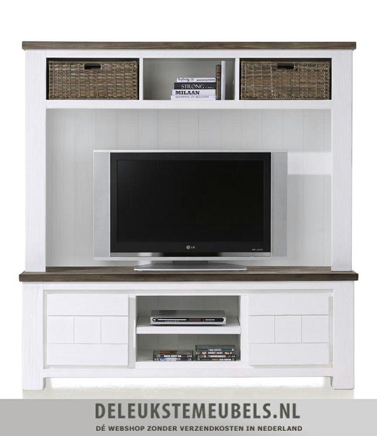 Opzetkast Deaumain van Happy@Home. Het gaat hierbij alleen om de opzet kast en niet om het tv-dressoir eronder. De opzetkast heeft drie niches waarvan er twee zijn met een mandje. Ruimte om wat dvd's of cd's op te bergen. Deze kast is een mooie aanwinst voor je interieur! Snel leverbaar. http://www.deleukstemeubels.nl/nl/deaumain-tv-opzetkast/g6/p1137/