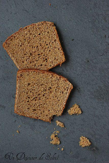 Pain de mie à la farine complète - Pan carré integrale _ un dejeuner de soleil