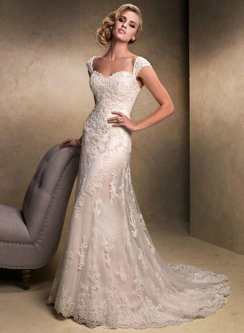 new lace white ivory wedding dress custom size 2 4 6 8