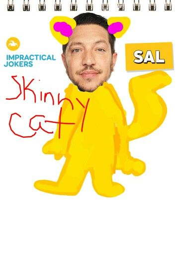 I just drew this on impractical jokers app