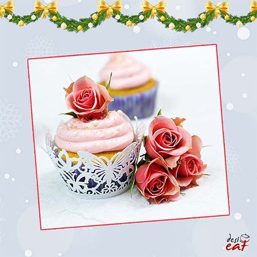 The Countdown to Christmas has begun with 29 Days to go! Desi Eat presents Dessert Ideas for Christmas from its recipe basket. Try it & share your reviews on http://bit.ly/DesiEatRoseWaterCupcake     #preChristmaspreparations #Rosewatercupcake #Christmasishere