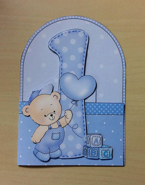 1st Birthday Card One Birthday Card 1 by TheBlenheimCardCo