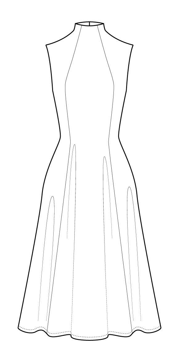 Jackie Dress Pdf Clothes Design Croquis Fashion Fashion Design Sketchbook