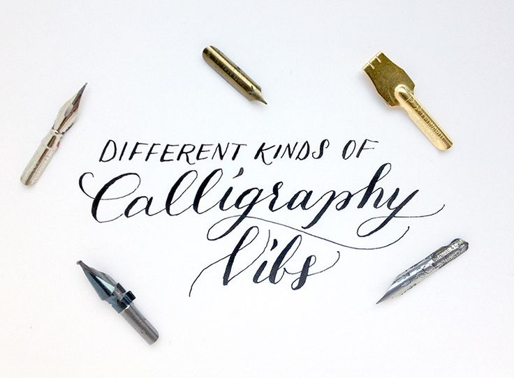 Different Kinds Of Calligraphy Nibs