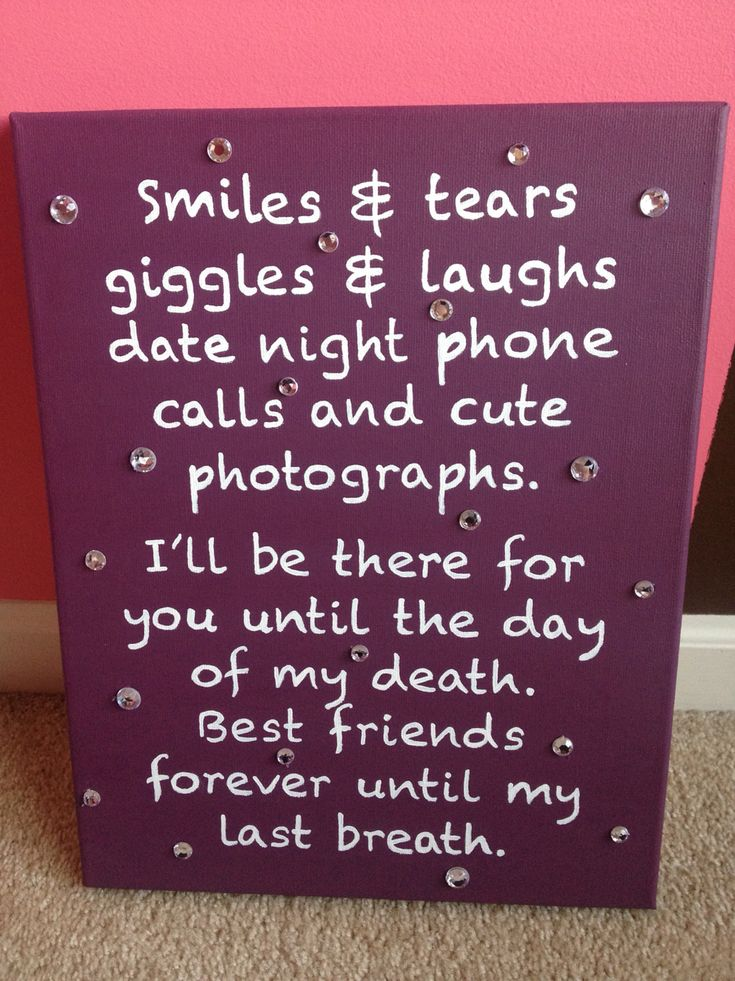 Friend Quotes On Canvas : As melhores ideias sobre diy best friend gifts no