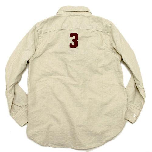 DENIM DUNGAREE(デニム&ダンガリー):オックスフォード シャツ 16BEベージュ の通販【ブランド子供服のミリバール】