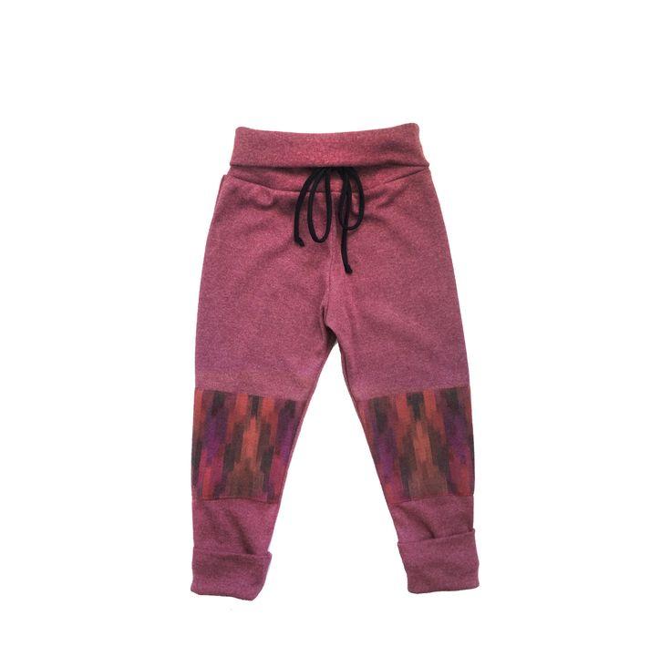 Pink Ikat size adjustable joggers