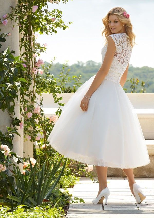 Mori Lee Voyage 6749 Wedding dress  Love this length for a country chic wedding dress!