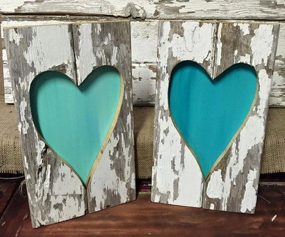 Rustic Barn Wood Heart Rustic Home Decor By