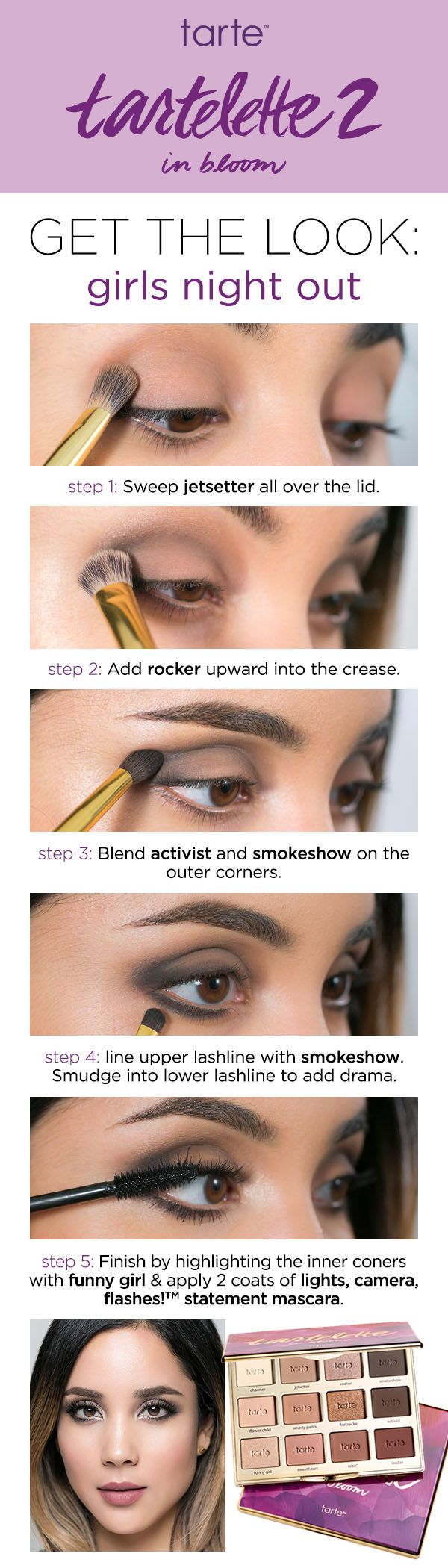 Howto Get A Sultry Evening Look For Your Next Girls Night Out Using Tarte