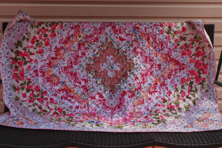 Штучки и штуковины: Розовое лоскутное одеяло