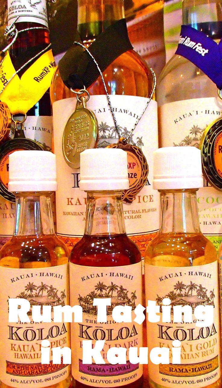 Rum tasting in #Kauai! A fun addition to any Hawaii travel itinerary.  http://www.passportsandcocktails.com/2014/07/koloa-rum-company-kauai-hawaii.html