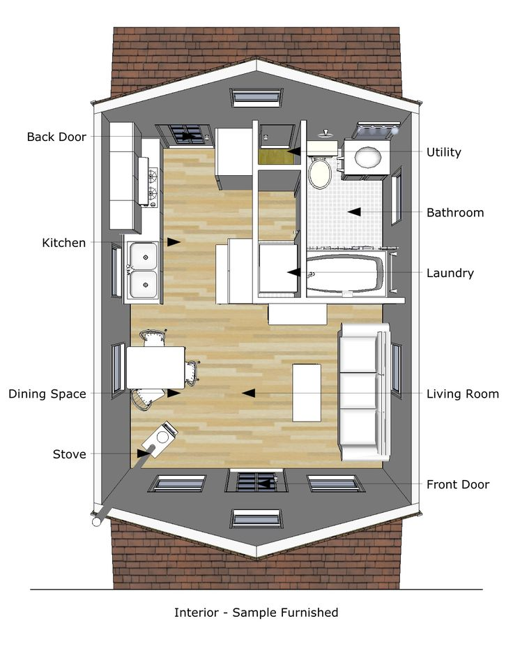 9 best gambrel roof tiny house images on Pinterest Tiny house