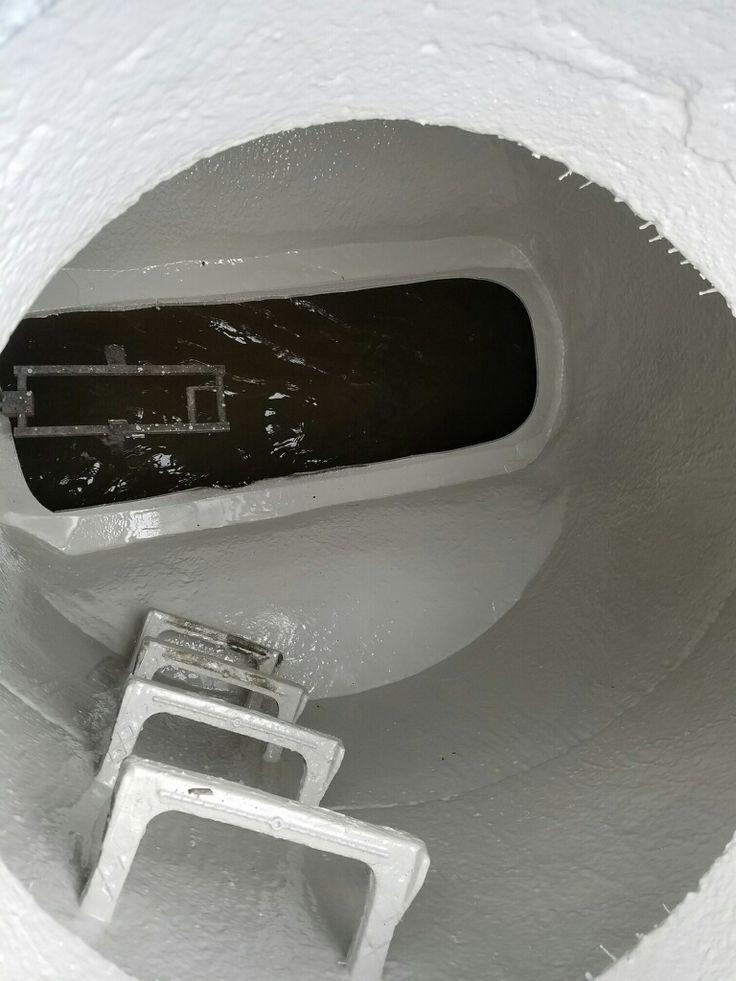 Veggie based coating used to protect manholes from corrosion. Ecodur 201.