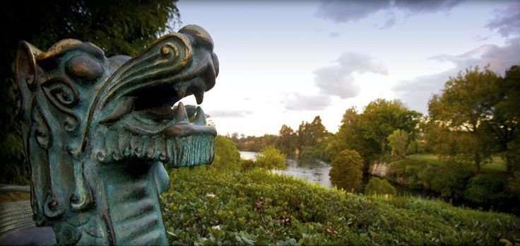 Chinese Scholars Garden at Hamilton Gardens, NZ.  Looks very pretty.