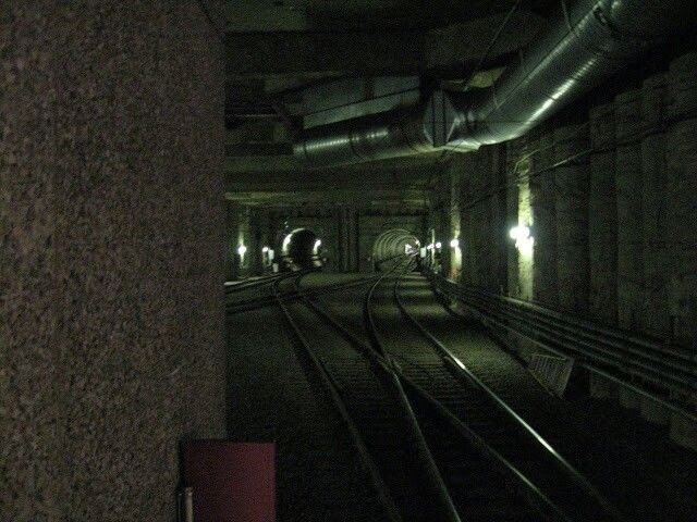 #LRT subway tunnel in downtown Edmonton photo by bucktracks