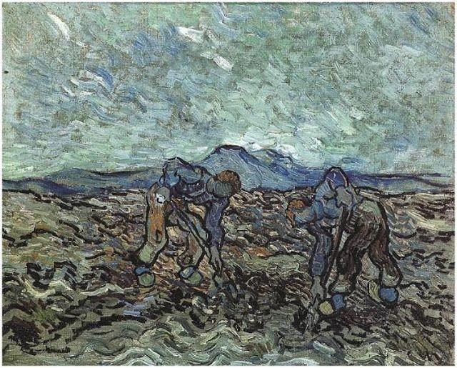 Χωρικοί μαζεύουν πατάτες - 1890