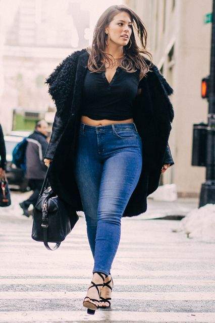 """What's Your Fashion """"Thing""""? 14 Women Weigh In #refinery29  http://www.refinery29.com/personal-style#slide-3  Ashley Graham, Model""""Jeans are personal, and searching for the perfect pair can be a daunting experience — especially if you have a curvy body type like me. Every pair I've ever owned have been worn down to the last thread because of how particular I am about fit. I favor high-waisted jeans with a bit of stretch, like <a href=""""http://www.nydj.com/new-arrivals-denim/l/3963"""" rel..."""