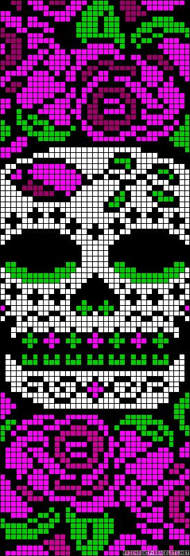 Sugar Skull  http://friendship-bracelets.net