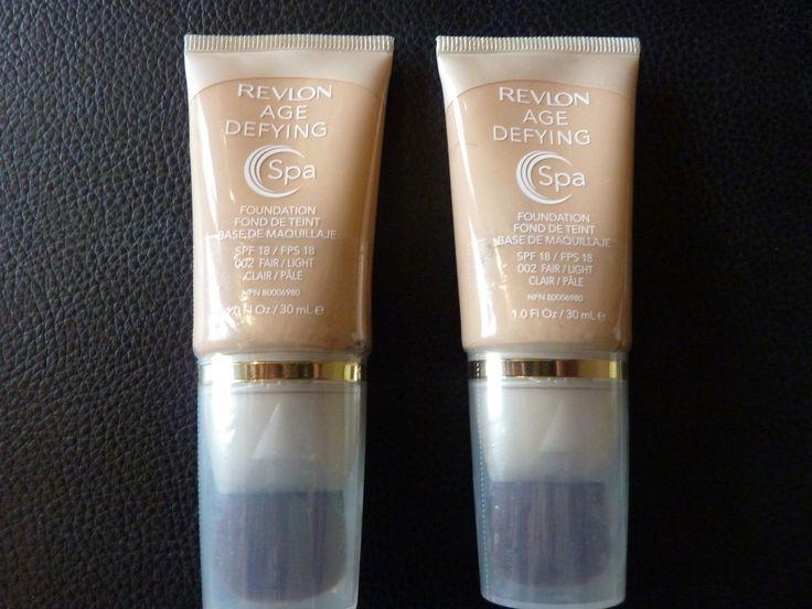 Revlon Age Defying SPA Foundation / Makeup  FAIR LIGHT  #002  TWO New / Sealed