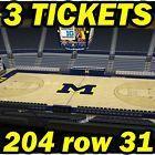 Ticket  3 TIX: Indiana Hoosiers @ Michigan Wolverines BASKETBALL 1/26 204row31 #deals_us