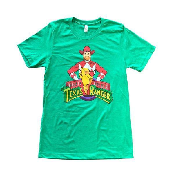 Green Mighty Walker Texas Ranger Unisex Tee