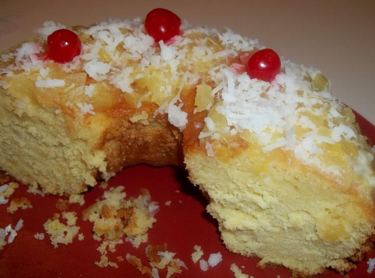 Pineapple Pound Cake | This pound cake is wonderful. Very moist and tender. The pineapple sauce you drizzle over the top really makes it pop with flavor.