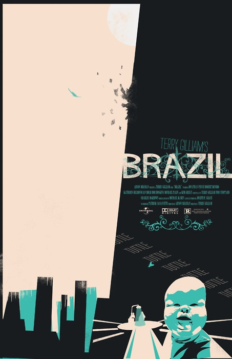 Terry Gilliam: BrazilMinimalist Posters, Movie Posters, Brazil Posters, Brazil 1985, Gilliam Brazil, Posters Design, Graphics Design, Terry Gilliam, Film Posters