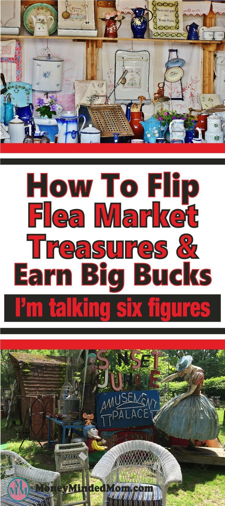 Earn money flipping flea market treasures has huge potential. Whether you want to earn some extra income on the side or start a full time business working from home ~ read this interview with a six figure flipper for some inside secrets. Flea market   flea market ideas   make money at home   extra income   start a business   make money #fleamarket #flippingforprofit #flipperuniversity