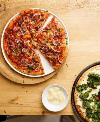 EASY-PEASY PREBAKED CRUST PIZZA: Consider these your veggie-friendly crusts. They bake at a lower temperature, so you can pile on tender produce like zucchini and kale without fear of scorching