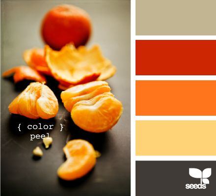color peel - Im feeling the orange lately but Id go chocolate brown instead of that dark grey Pushing Halloween territory