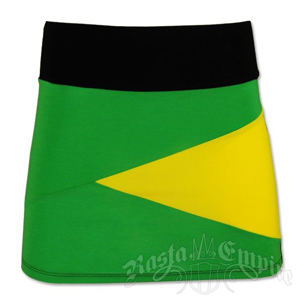 Jamaican Color Swimsuits | Jamaican Color Block Mini Skirt @ RastaEmpire.com