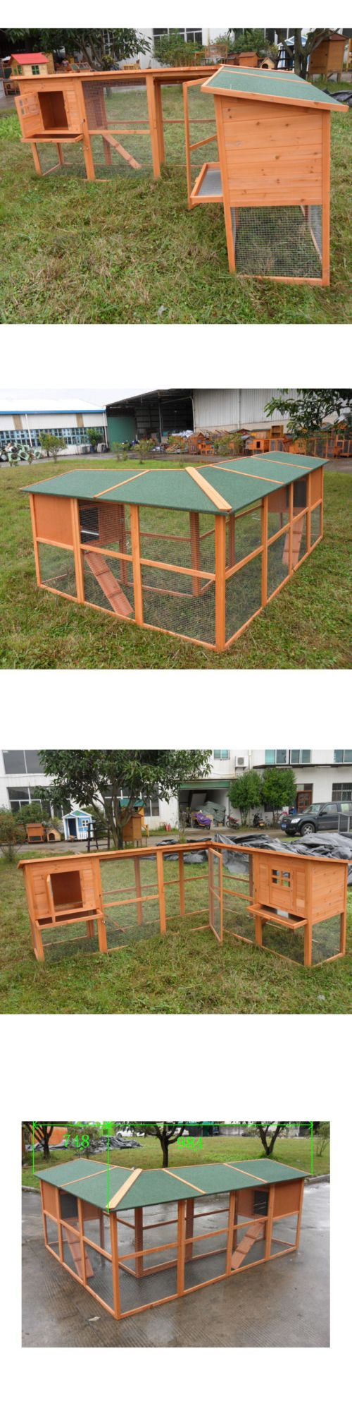 Backyard Poultry Supplies 177801: Premium Large Rabbit Hutch Chicken Coop Small Animal Cage W Two Bedrooms -> BUY IT NOW ONLY: $205.96 on eBay!