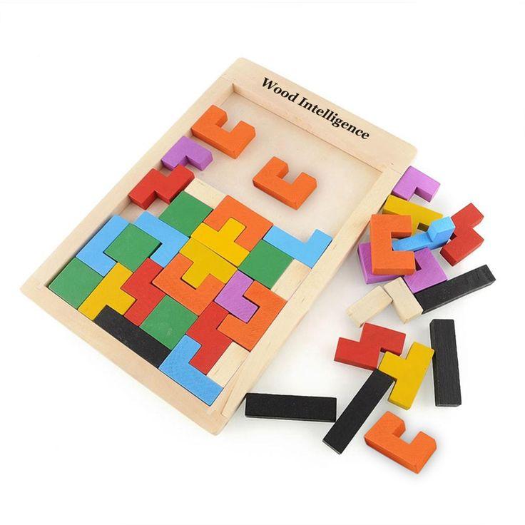 木製おもちゃタングラム頭の体操パズル就学前magination知的教育子供ジグソーパズルボードおもちゃ子供のため