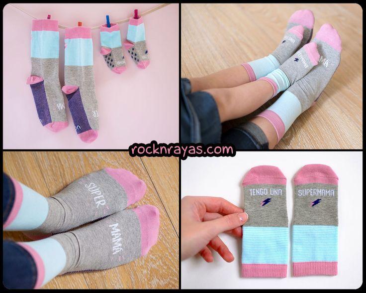 Mamás y peques pueden compartir súper calcetines!! Cómodos y originales, para empezar todos los días con buen pie!! 