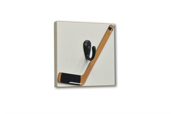 Hockey Room Decor | this hockey stick single hook is functional and decorative great for ...
