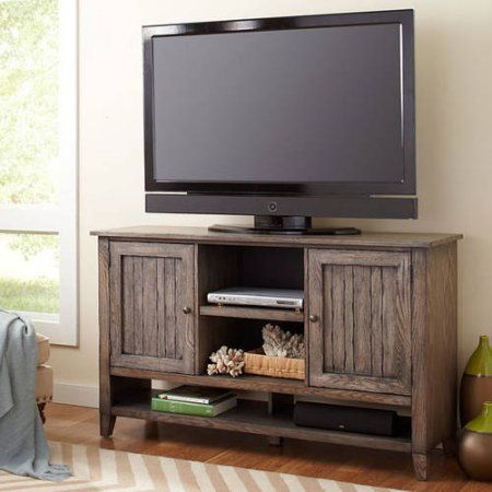 "Martin Furniture Hale Deluxe TV Stand For Flat Screen TVs up to 70"", Brown"
