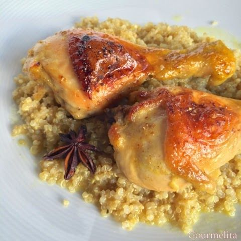 Fragrant moscato chicken with star anise.