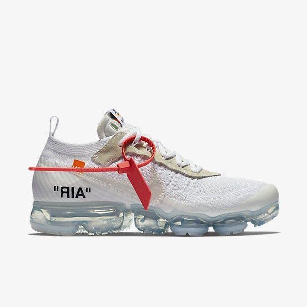 Off White X Nike Air Vapormax White White Sneakers Men Custom Nike Shoes Designer Sneakers Mens