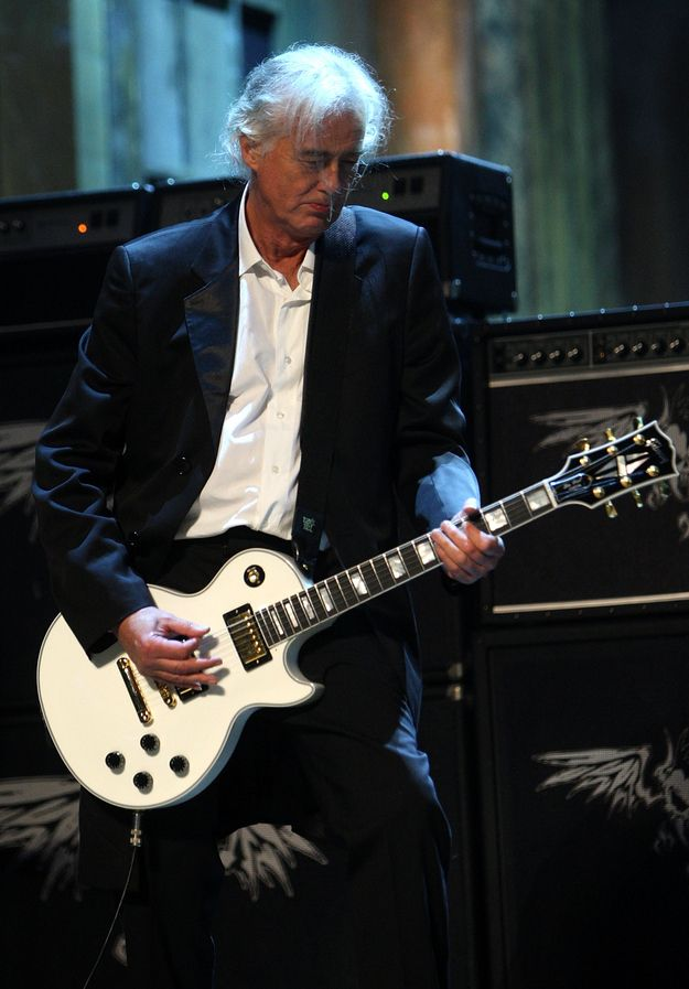 (In case you were wondering, yes, his hair has gone white from sheer awesomeness.) | 29 Reasons Jimmy Page Is The Most Badass Person Alive