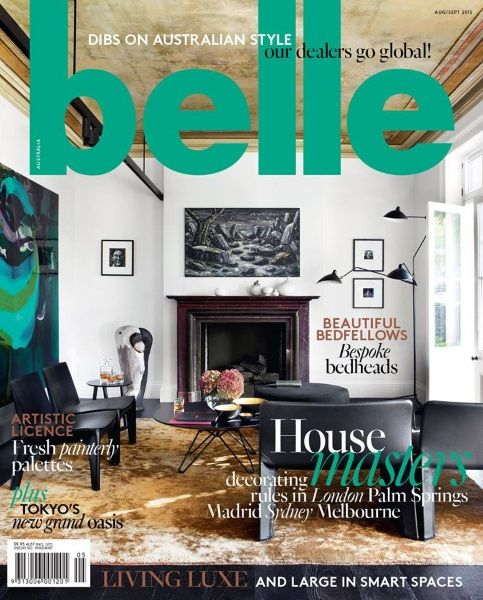 Interior Design Magazines - Within The Pages - The Design Library AU Edit - Belle Magazine August - September   |   designlibrary.com.au