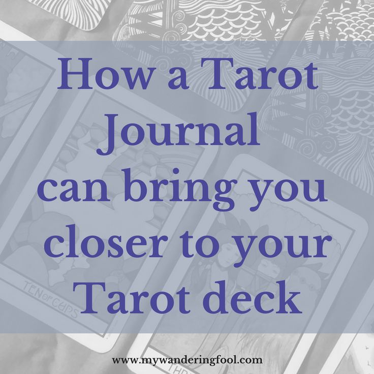 A Tarot Journal is your most important Tarot tool. Find out more here.