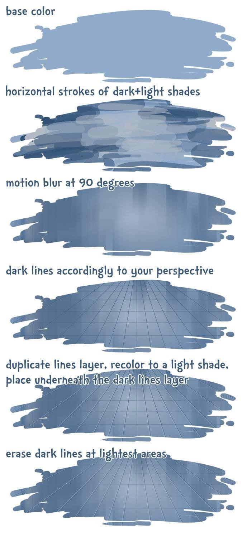 Shiny tile floor tutorial?
