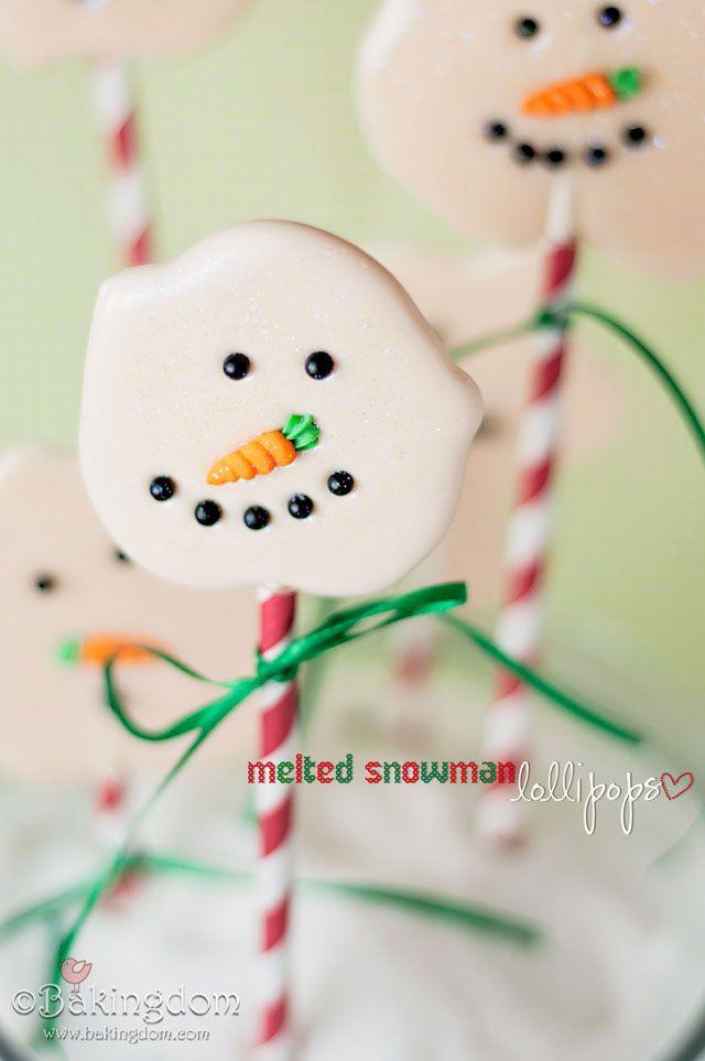 Easy Snowman Lollipops - Bakingdom