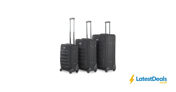 VonHaus 3pc Fabric Luggage Set, £64.99 at Domu