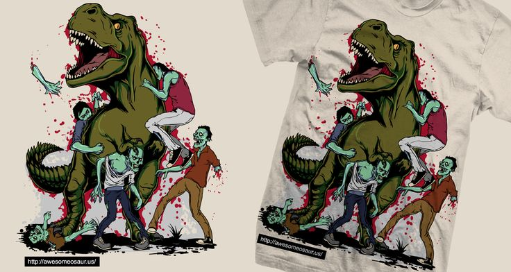 Design #38 by _Trickster_ | Dinosaur versus zombies! Who will win?!