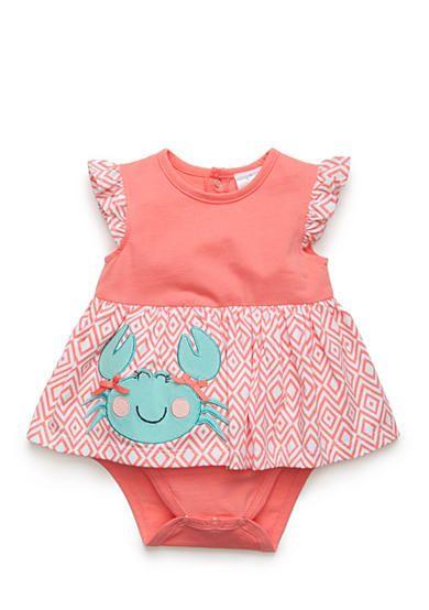 Nursery Rhyme® One-Piece Crab Bodysuit Dress
