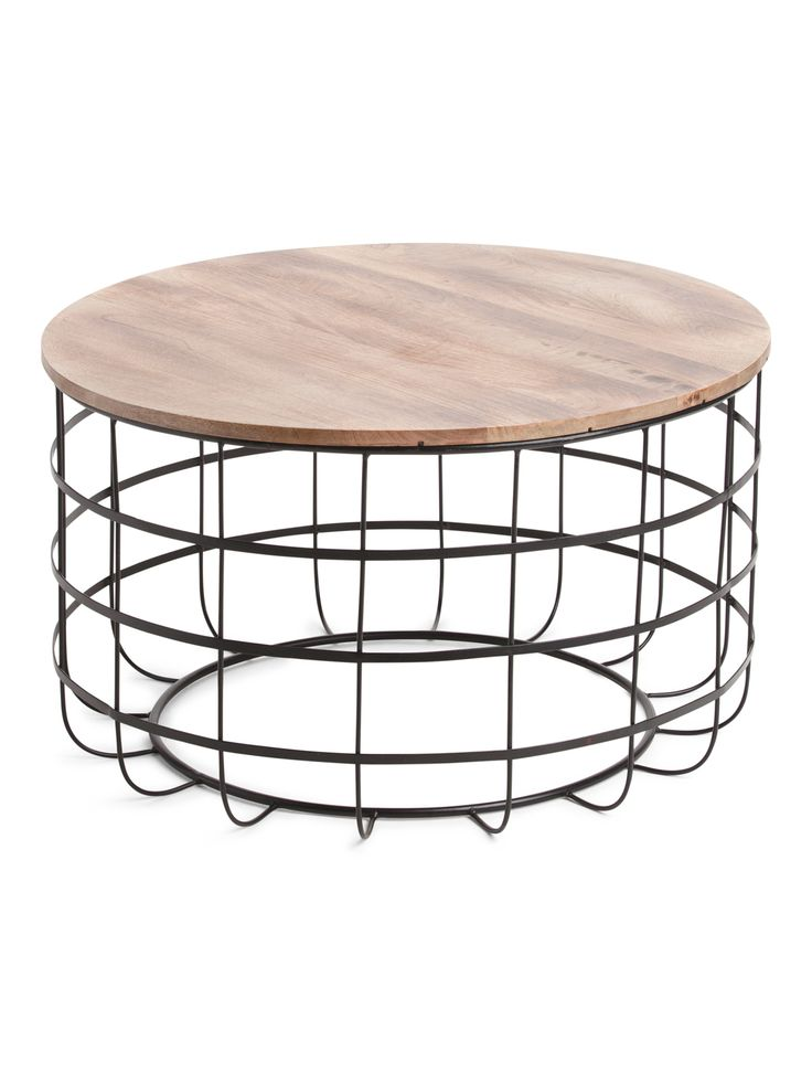 Caged coffee table living room tjmaxx cage coffee