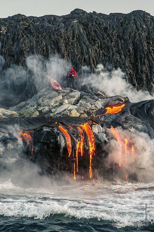 Ocean Lava Flow, Hawaii