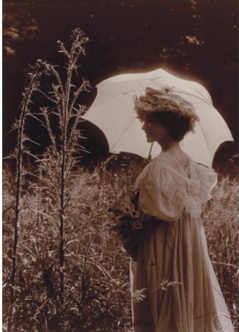 Turn of the Century • CONSTANT PUYO ~WOMAN WITH WHITE PARASOL,c.1909